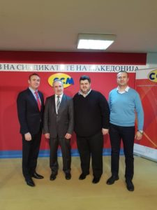 Mr. Darko Dimovski was elected as the President of the Federation of Trade Unions of Macedonia