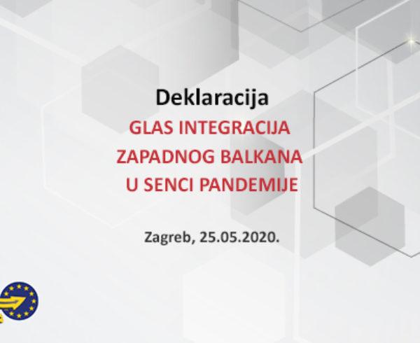 DEKLARACIJA RSS Solidarnost povodom zagrebačkog Samita EU-Zapadni Balkan GLAS INTEGRACIJA ZAPADNOG BALKANA U SENCI PANDEMIJE