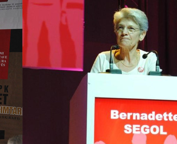 Bernadette Segol: message of the ETUC at the occasion of the 25th anniversary of BSPK-Kosovo