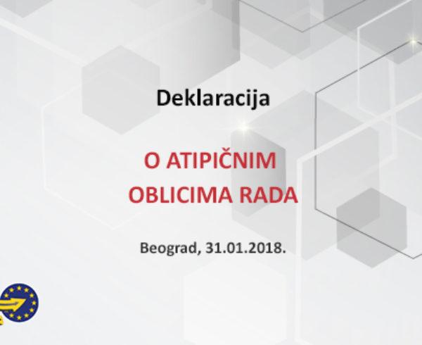 Deklaracija o atipičnim oblicima rada Beograd 2018
