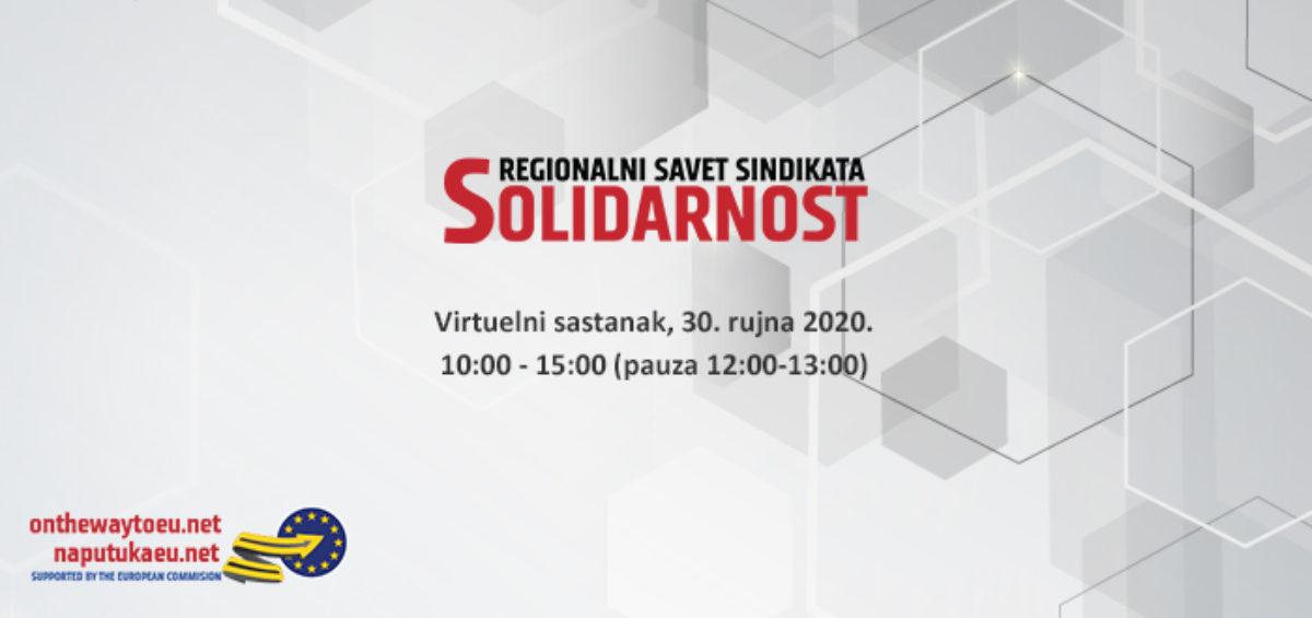 Virtualni sastanak Regionalnog sindikalnog savjeta Solidarnost