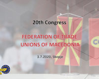 20th Congress of the Federation of Trade Unions of Macedonia
