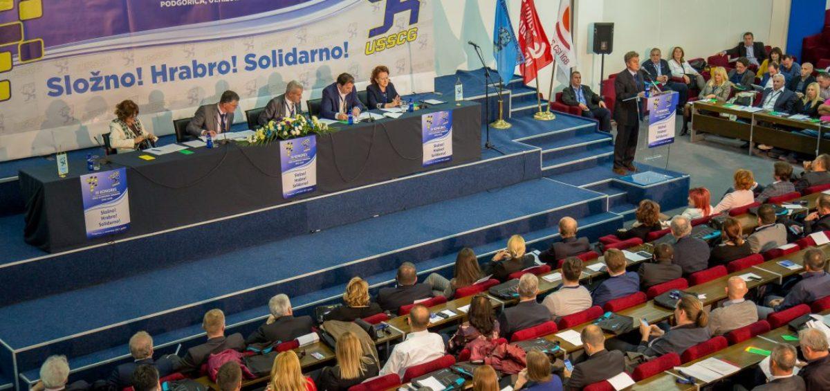 Održan III Kongres Unije slobodnih sindikata Crne Gore
