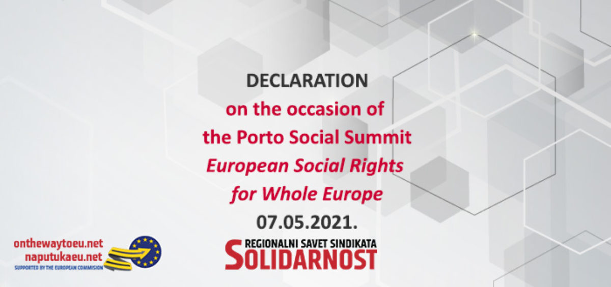 Declaration RSS Porto Social Summit May 2021