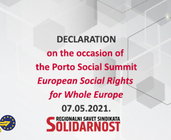 Declaration RSS Porto Social Summit May 2021