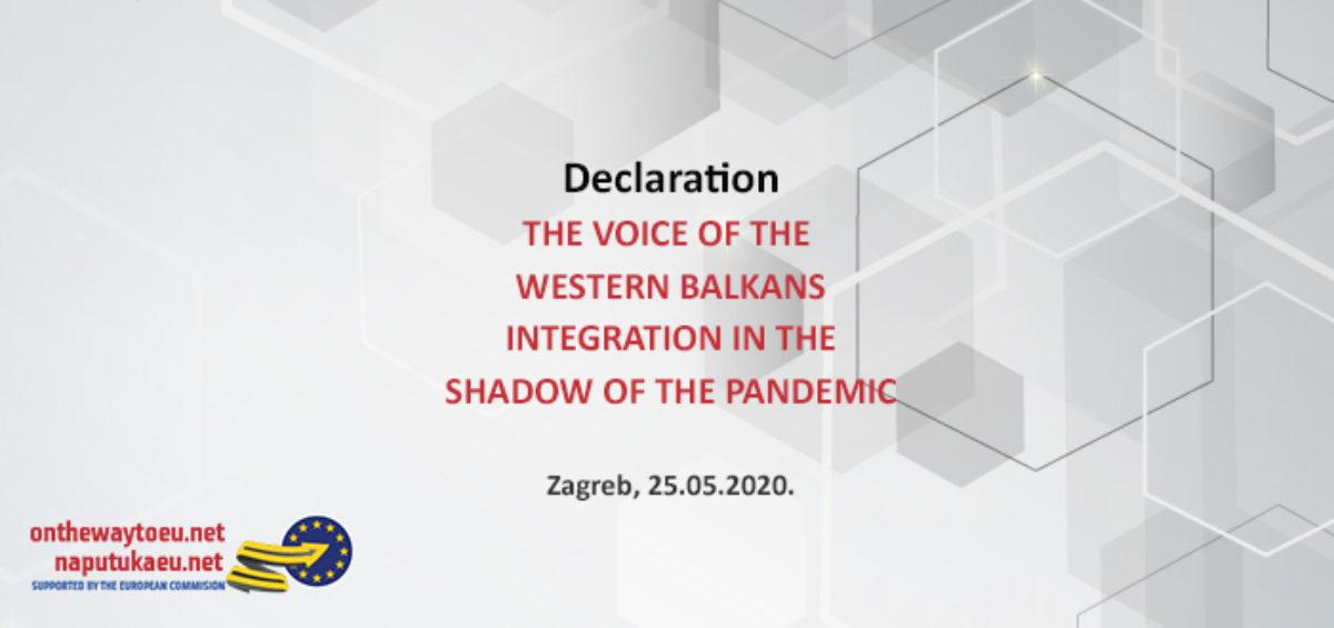 THE VOICE OF THE WESTERN BALKANS INTEGRATION IN THE SHADOW OF THE PANDEMIC
